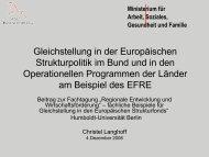 Gleichstellung in der Europäischen Strukturpolitik im Bund und in ...
