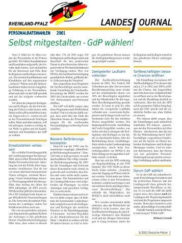 Journal März 2001 - gdp-deutschepolizei.de