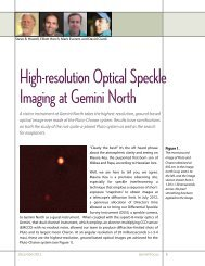 High-resolution Optical Speckle Imaging at Gemini North