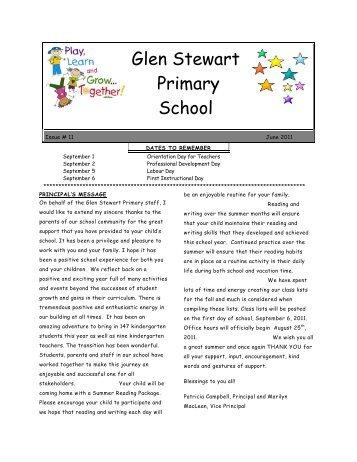 Final School Newsletter for 2010-2011