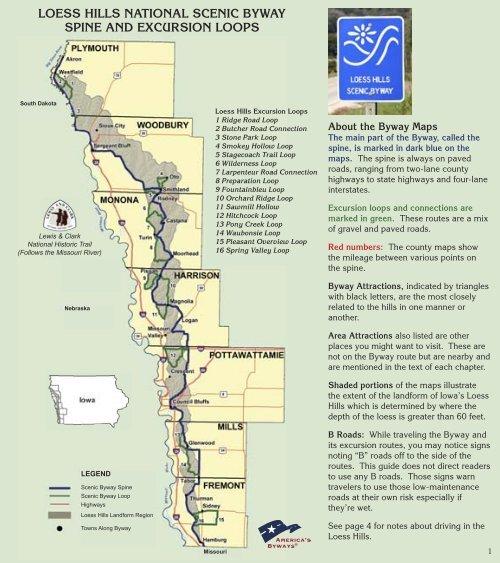 iowa scenic byways map Iowa S Loess Hills National Scenic Byway Golden Hills Resource iowa scenic byways map