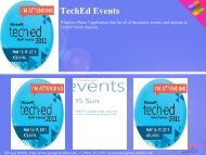 TechEd Events - Get Mobile game