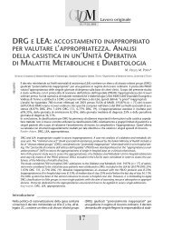drg e lea - Giornale Italiano di Diabetologia e metabolismo