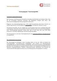Strategiepapier Tourismuspolitik - Österreichischer Gemeindebund