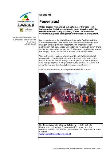 Feuer aus! - Gemeindeentwicklung