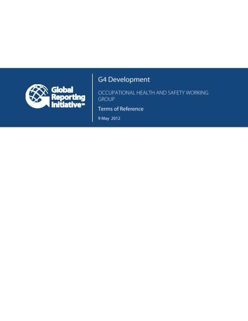 (OHS) Working Group Terms of Reference - Global Reporting Initiative