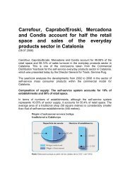Carrefour, Caprabo/Eroski, Mercadona and Condis account for half ...