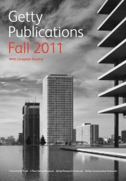 tions Getty Publications Fall 2011 - The Getty