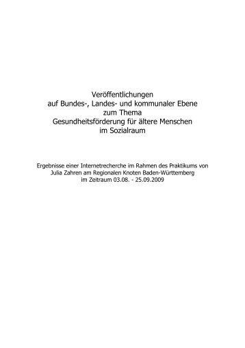 """""""Gesundheitsförderung für ältere Menschen im Sozialraum"""" (PDF; 90"""