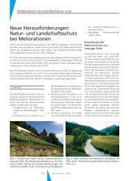 Natur- und Landschaftsschutz bei Meliorationen - Geomatik Schweiz