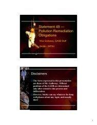 Statement 49 — Pollution Remediation Obligations