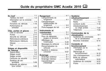 avertissement - GM Canada