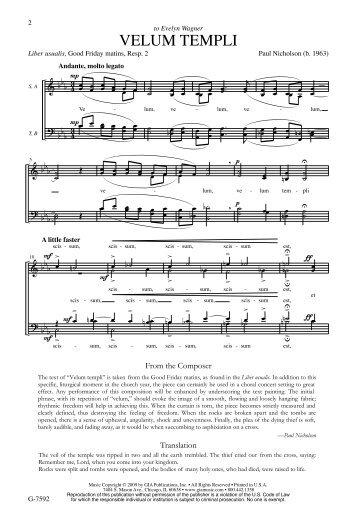 G-7592 Velum templi.mus - GIA Publications