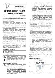 CONTOR GEIGER PENTRU RADIAŢII GAMMA - German Electronics