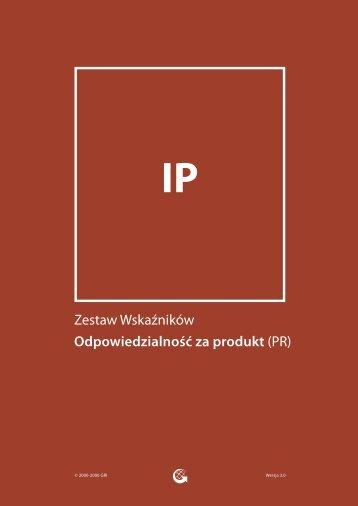 Zestaw Wskaźników Odpowiedzialność za produkt (PR) - Global ...