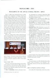 The 51sl AGM of the Geological Society of India, scheduled at the ...