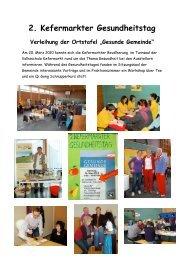 2. Kefermarkter Gesundheitstag - Netzwerk Gesunde Gemeinde