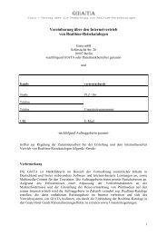 Rahmenvertrag über die Zusammenarbeit - Giata