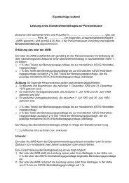 Eigenbeträge laufend WStW - FSG