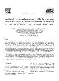 Late Glacial?Holocene palaeoceanography of the Sea ... - geo.edu.ro