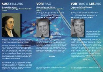 AUSSTELLUNG VORTRAG VORTRAG & LESUNG - Evangelische ...