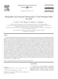 Stratigraphic and structural characteristics of the ... - geo.edu.ro