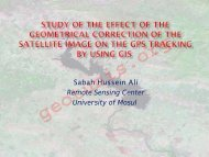 Study of the Effect of the Geometrical Correction of the Satellite ...