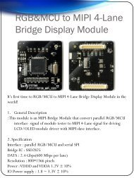 MIPI D-PHY Interface Test