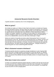 Autosomal Recessive Genetic Disorders - Genetic Alliance UK