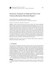 Seismicity Variations in Depth and Time in the Vrancea ... - geo.edu.ro