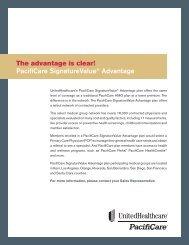 PacifiCare SignatureValue® Advantage - The Getty