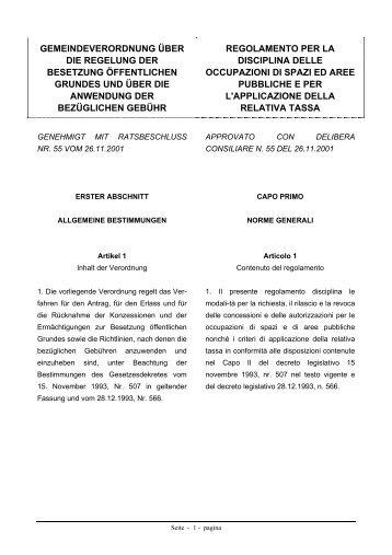 gemeindeverordnung über die regelung der besetzung öffentlichen ...