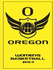 2010-11 oregon women's basketball - GoDucks.com