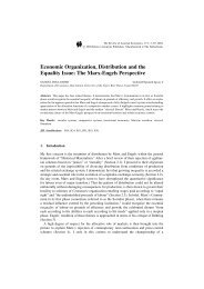 Economic Organization, Distribution and the Equality Issue: The ...