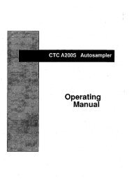 on CTC A200s Autosampler - Gemini BV