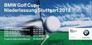 BMW Golf Cup Niederlassung Stuttgart 2012
