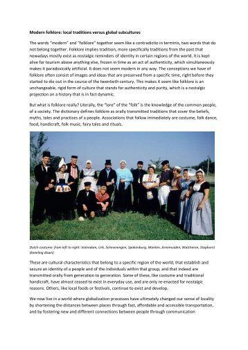 Modern folklore - Gerrit Rietveld Academie