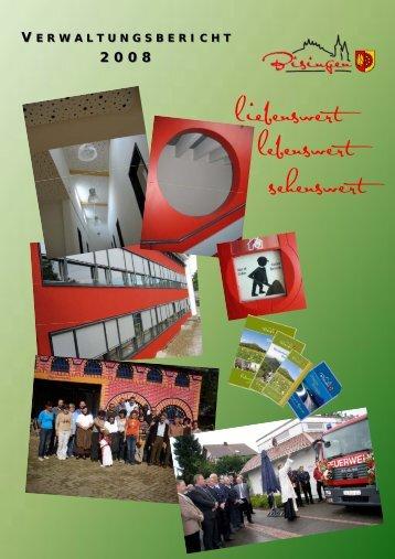 Verwaltungsbericht 2008 - Gemeinde Bisingen