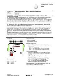 Jalousieaktor 4fach 24 V DC mit Handbetätigung