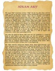HIRAM ABIF - Grand Lodge Bet-El