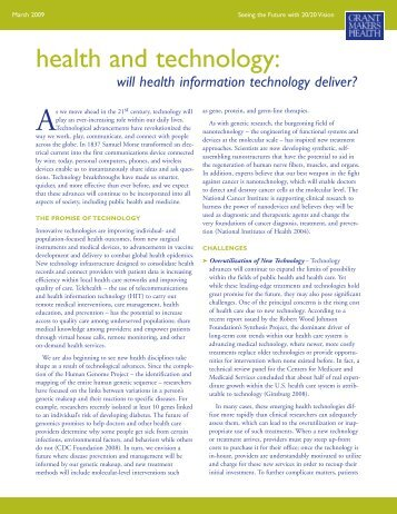 health and technology - GIH - Grantmakers In Health