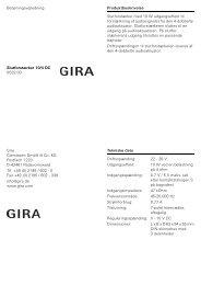 Betjeningsvejledning Slutforstærker 10/4 DC 0532 00 ... - Gira
