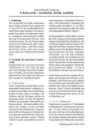 Urheberrecht – Geschichte, Kritik, Ausblick - Gesellschaft für ...
