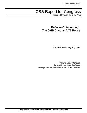 The OMB Circular A-76 Policy - GlobalSecurity.org