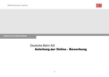Bewerbungsschreiben Deutsche Bahn