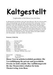 Kaltgestellt - Theaterverlag Arno Boas