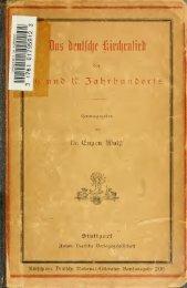 Das deutsche Kirchenlied des 16. und 17. Jahrhunderts