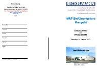 MRT-Einführungskurs Kompakt - Dr. Wolf, Beckelmann & Partner ...