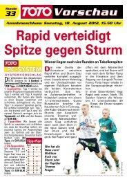 Rapid verteidigt Spitze gegen Sturm - win2day