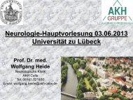 Folien - Klinik für Neurologie - Universität zu Lübeck